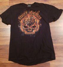 FLAMING CHROME TRIBAL SKULL Adult T-Shirt All Sizes