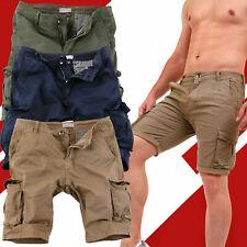 Bermuda Uomo Cargo Pantaloni Corti Tasche Laterali Pantaloncini Tasconi Shorts