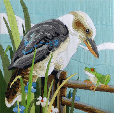 Country Threads Kookaburra With Frog Long Stitch 30 X 30cm 100 Wool