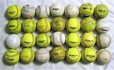"Two Dozen & 4 = 28 Used 12"" Softballs: Dudley, Cooper, Worth, Wilson, MacGregor"