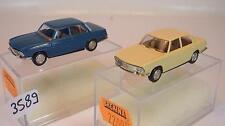 Brekina 1/87 2 x bmw 1500-2000 Limousine 2200 beige & 2200 azul OVP #3589