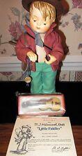 """1989 Goebel Hummel Soft Body """"Little Fiddler"""" Doll by Danbury Mint; Coa; w Box"""
