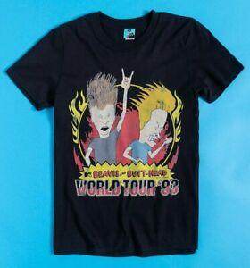 Official Beavis And Butt-Head World Tour '93 Black T-Shirt
