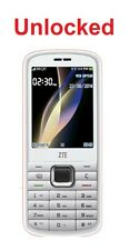 "Unlocked ZTE F286 White/Red 2.4"" Display 3G Mobile Phone"