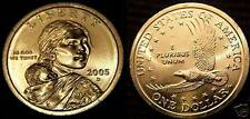2005 P&D Native American Sacagawea Uncirculated Dollars US Mint Coin Set