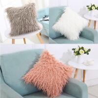 Soft Fur Fluffy Plush Pillow Case Sofa Waist Throw Cushion Cover Home DIYDecor