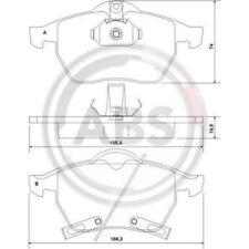 A.B.S. Original BREMSKLÖTZE BREMSBELAGSATZ Vorderachse Opel, Saab, 37116