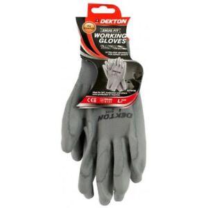 Dekton Snug Fit Anti Slip PU Coated Working Gloves 9/Large Workshop DIY CE NEW