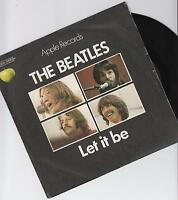 """THE BEATLES - Let It Be - Original 1970 French wide centred 7"""" vinyl single -p/s"""