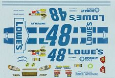 #48 JIMMY JOHNSON LOWES 2012 White Chevy 1/24th - 1/25th Decals
