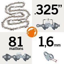 """Chaîne tronçonneuse KERWOOD 81 maillons 0,325"""", 1,6mm"""