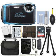 Fujifilm FinePix XP130 16.4MP Digital Camera Sky Blue Full-HD + 16GB Kit