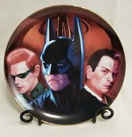 Warner Bros Batman Forever Collector's Plate Limited Edition Riddler Twoface