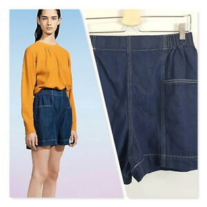 [ UNIQLO U ] Womens U Denim Easy Shorts NEW + TAGS | Size L or AU 14 / US 10