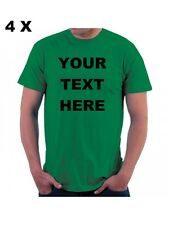 4 !! NEW Custom Personalized T Shirts -print your TEXT front and back - Camiseta