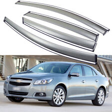 4Pcs Window Visor Vent Deflector Sun/Rain Guard for Chevy Malibu Sedan 2013-2015
