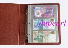 New paper money book Album Holders Banknotes 10Pages 30pockets Can Add pages