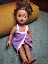 """2013 Cititoy 18"""" Girl Doll. Dark Hair/Brown Eyes. Bath/Pool Wear"""