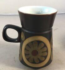 Denby Arabesque 1970s Coffee Cups 10cm
