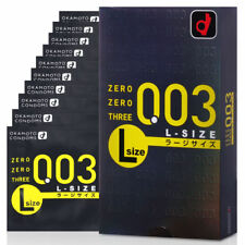 Okamoto Condom 003 0.03 mm Zero Three L Large Size 10pcs/1box (US Seller)