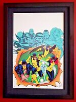 Hand signed by Stan Lee X-Men Giant-Size #1 (no. 4 of 10) LE Marvel Canvas Art
