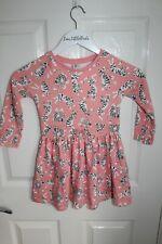 Girls Toddler 3-4 Pink Tiger Long Sleeve Dress