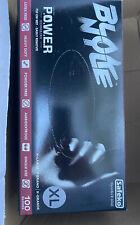 2 Box Safeko Blak Nyle XL Power Gloves 100ct Powder Free No Latex