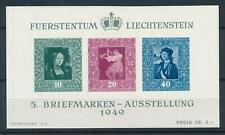 [103232] Liechtenstein 1949 Stamp expo Vaduz Miniature sheet MNH