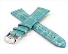 New MICHELE Turquoise Alligator 18mm Watch Band w/ Stainless Steel Buckle