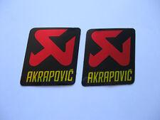 2 Aufkleber Sticker tuning Akrapovic Racing Motorsport Biker Motorrad Race FX GT