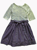NWT Girls Blue Dress Size 4, 6 Knit & Chambray Short Sleeve FiveLoaves TwoFish