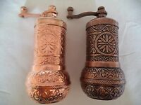 2 x Handmade Acar Turkish Coffee, Pepper, Salt Grinder  Antique Ottoman Antique