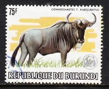 BURUNDI — SCOTT 600a — 1983 WWF WILDLIFE — 75F WILDEBEEST — USED — SCV $90.00