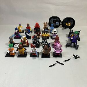 LEGO Mini Figs Batman Movie Series 1 Full Set of 20 71017 + Joker, Bat Cave MORE