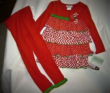 Bonnie Jean Girls Red and White 2 pc Christmas Holidays Outfit  Size 6  NWT
