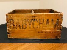 """More details for vintage babycham wooden advertising beer crate, 1958 - perfect for 7"""" records"""