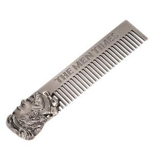 Mustache Comb Men Stainless Steel Beard Styling Mustache Comb 5.8x1.2in 14.8x3cm