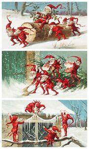 Rice Paper for Decoupage Scrapbook Craft Christmas Santa Elf 880