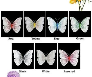 3D Butterfly Home Decor Wall Decoration Stickers Magnet 12 Pcs - 7 colours