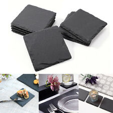 8pcs Cup Drinks Coaster Holder Mat table Placemat Tableware Natural Slate Stone