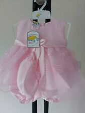 Baby girls OCCASION DRESS wedding 9-12 months pink hat knickers NEW - FREE POST