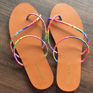 Women Summer Casual Flat Toe Beach Sandals Slippers Slip-On Shoes Flip Flop