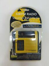 Portable Handheld AM/FM Weather Band Radio w/ Outdoor LED Night Light