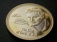 Elvis Gold Plated Commemoratve Coin The King of Rock n Roll 1935 - 1977