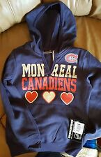 Montreal Canadians Girls VNeck Hoodie!- 2 Sizes 6/6x & 7/8 Brand New With Tags