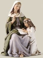 St. Anne with  Child Mary Statue 4.5""