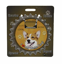 Welsh Corgi dog coaster magnet bottle opener Bottle Ninjas