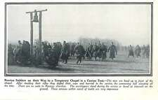 WW1 Russian Soldiers On The Way To Temporary Chapel In Canvas Tent