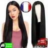perruque longue droite noire perruques synthétiques pour les femmes