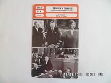 CARTE FICHE CINEMA 1958 TEMOIN A CHARGE Tyrone Power Marlene Dietrich C.Laughton